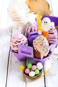 Homemade easter chocolate eggs  — Stock Photo