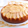 Slice of pear topped cake — Stockfoto #64433007