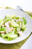 Green apple and chicken salad — Stock Photo