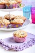 Low fat wholemeal muffins  — Stock Photo