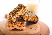 Puffed rice crispy bars — Stock Photo