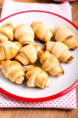 Cinnamon  and apple filling crescents  — Stock Photo