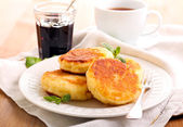 Quark cheese fried cakes  — Stock Photo