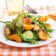 Chicken, apricot, rocket and cucumber salad — Stock Photo #78917376