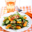Chicken, apricot, rocket and cucumber salad — Stock Photo #78917402