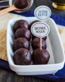 Sweet chocolates truffles, hand made, dessert — Stock Photo