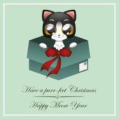Christma Kitty — Stock Vector