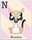 Animal alphabet card — Stock Vector