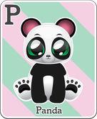 Animal alphabet card — Wektor stockowy
