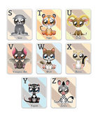 Animal alphabet cards — Stock Vector
