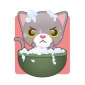 Ładny szary kotek — Wektor stockowy