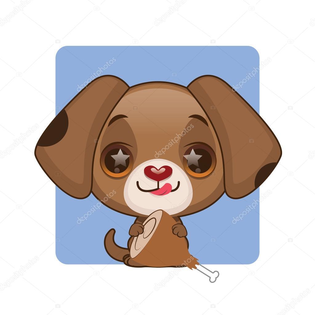 可爱的卡通小狗肉 — 图库矢量图像08
