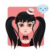 Cute girl expression - Sarcastic — Stock Vector