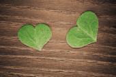 зеленое сердце — Стоковое фото