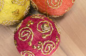 Christmas tree balls decor — Stock Photo