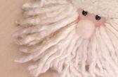 Wool cloth santa claus face — Stock Photo