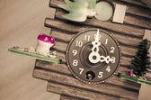 Cuckoo wall clock, three o'clock — Stock Photo