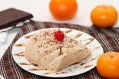 Chocolate and orange semifredo ice cream — Stockfoto