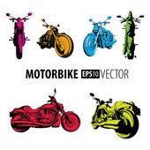 Motorbikes set — Stock Vector
