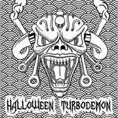 Halloween hand drawn turbodemon — Stock Vector