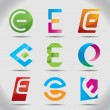 Vector illustration of abstract icons or logos based on the letter E — Stock Vector #54320007