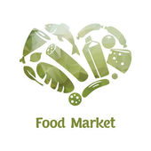 Food market logo — Vector de stock