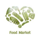 Food market logo — Vetorial Stock