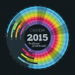 Постер, плакат: Circle calendar for 2015 year As well perfect for all the years just rotate the months EPS10 vector