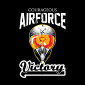 Courageous Airforce Victory t-shirt design. EPS10 vector — Stock Vector