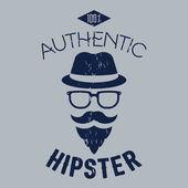 Authentic hipster illustration. Design for advertising, labels, branding, t-shirts etc. EPS10 vector — Vetor de Stock