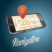 Smartphone navigation vector illustration. EPS10 format — Stock Vector
