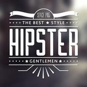 Vintage etiqueta, logo de hipster tema insignia — Vector de stock