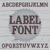 Vintage label font — Vetor de Stock