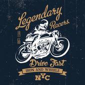 Legendary vintage racers label — Stock Vector