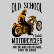 Постер, плакат: Old school motorcycles t shirt label design