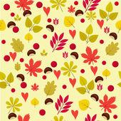 Vector illustration of autumn pattern — Stock Vector