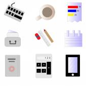 Набор векторных бизнес иконки — Cтоковый вектор