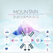 Mountains Infographic - Vector Illustration — Stock Vector