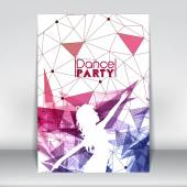 Dance Party Poster Template with Abstract Background - Vector Illustration — 图库矢量图片