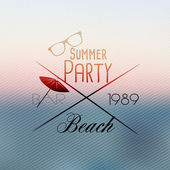 Summer Beach Party Flyer Template - Vector Illustration — Stock Vector