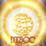 Retro Disco Party Invitation Poster Design - Vector Illustration — Stock Vector #57530327