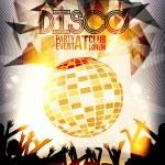 Retro Disco Party Invitation Poster Design - Vector Illustration — Stock Vector #57530329