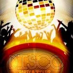 Retro Disco Party Invitation Poster Design - Vector Illustration — Stock Vector #57530373