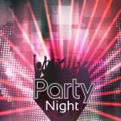 Party People Laser Disco Flyer Template - Vector Illustration — Cтоковый вектор