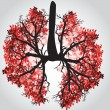 Tree Branches Like Lungs - Vector Illustration — Stock Vector #65443121