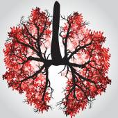 Tree Branches Like Lungs - Vector Illustration — Stock Vector