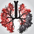 Ree Branches Like Lungs - Vector Illustration — Stock Vector #68181605
