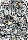 New York Doodle — Stock Vector