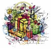 Sketchy Gifts — Stock Vector