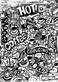 Coffee Doodle — Stock Vector